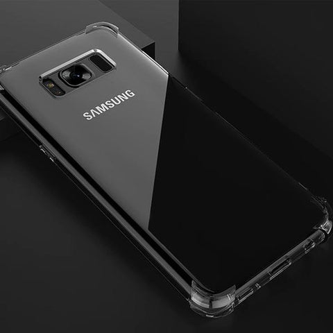 Shockproof Anti-Knock TPU Crystal Clear Case For Samsung