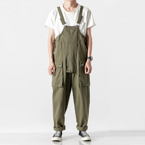 Casual Fashion Army Green Sling Jumpsuit LH025