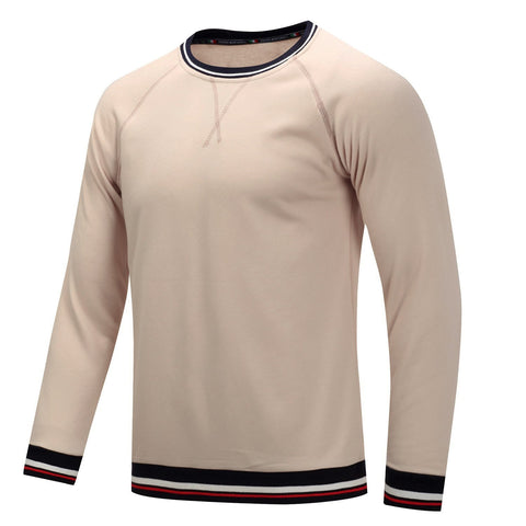 Men's Cotton Large Size Thick Long-Sleeved T-Shirt