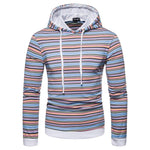 Casual Colorful Strip Hoodie