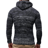 Fashion Mens  High Collar Plain Knit Thick Sweater