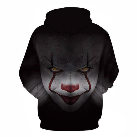 Casual Clown Printed Packet Hoodie