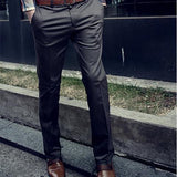 Fashion Casual Plain  Slim Business Pants