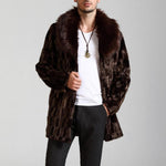 Winter Men's Fashion Faux Fur Warm And Comfortable Casual Jacket