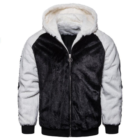 Fashion Split  Joint Floss Zipper Keep Warm Coat