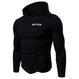 Fitness 5 Color Slim Bottoming Hooded T-Shirt