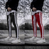 High Street Striped Zipper Slim Sprot Pants