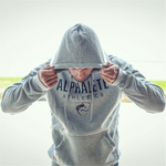 Men's Fashion Fitness Solid Color Sports Hoodie