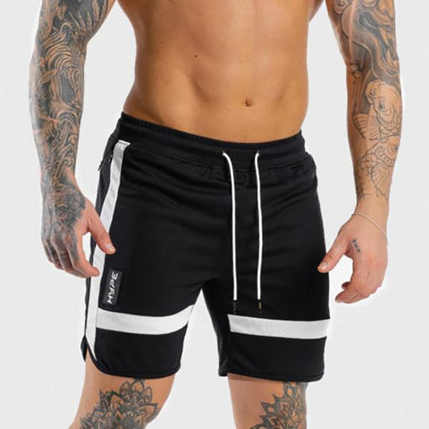 Fitness Fashion Color Matching Striped Training Shorts