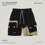 Street Style Colorblock Multi-Pocket Shorts