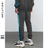 Street Style Colorblock Adjustable Loose Pants