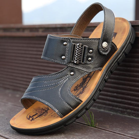 Men Casual Tide Wild Leather Sandals