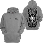 Men's Fashion Street Print Solid Color Hoodie