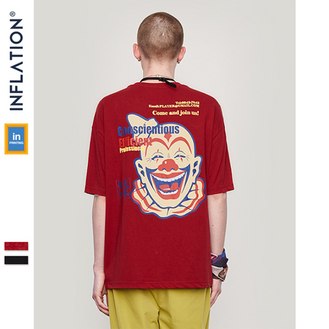 Street Style Clown Print Short Sleeve T-Shirt