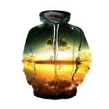 3D Digital Printing Starry Tree Hoodie