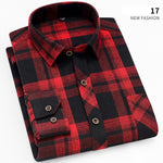 Men's Mottled Plaid Casual Shirt