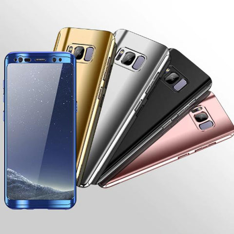 360 Full Protection Bling Mirror Phone Cover For Samsung