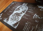 Anatomy glass cutting board-small - SocialPariah