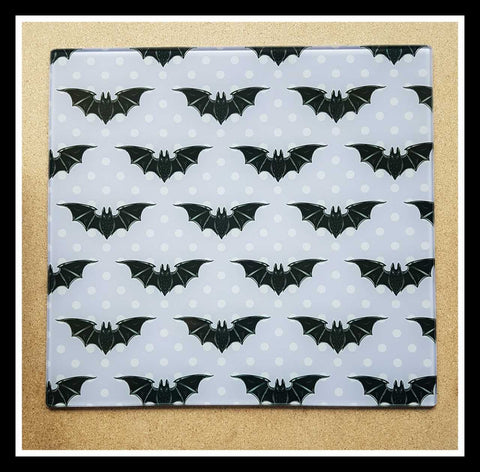 Bats glass cutting board-large - SocialPariah