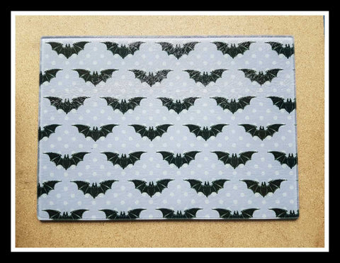 Bats glass cutting board-small - SocialPariah