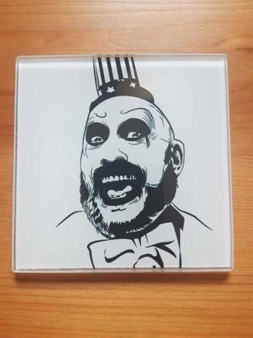 Captain Spaulding glass coasters - SocialPariah