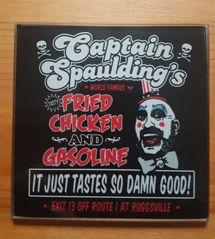 Captain Spaulding fried chicken glass coasters - SocialPariah