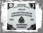 White ouija board glass cutting board-large - SocialPariah
