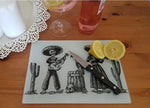 Day of the dead glass cutting board - SocialPariah
