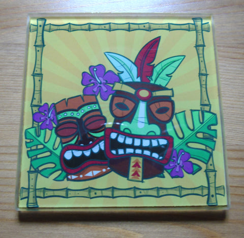 Tiki glass coasters - SocialPariah
