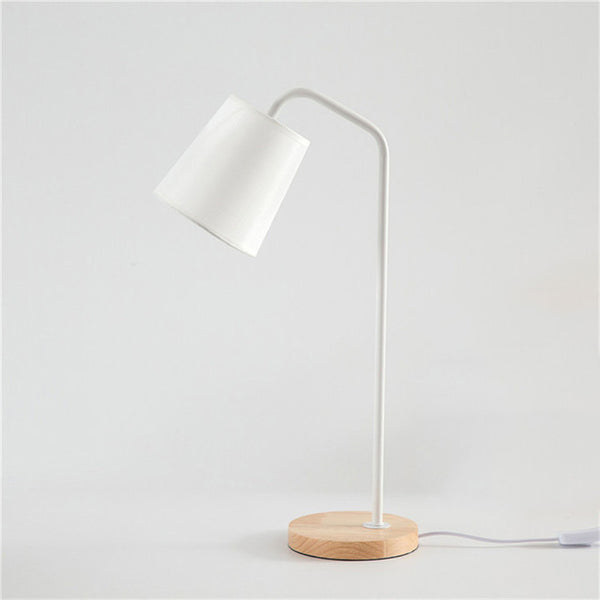 White nordic night table lamp