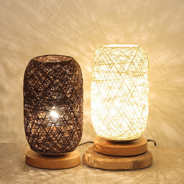 Wicker zen night lamp