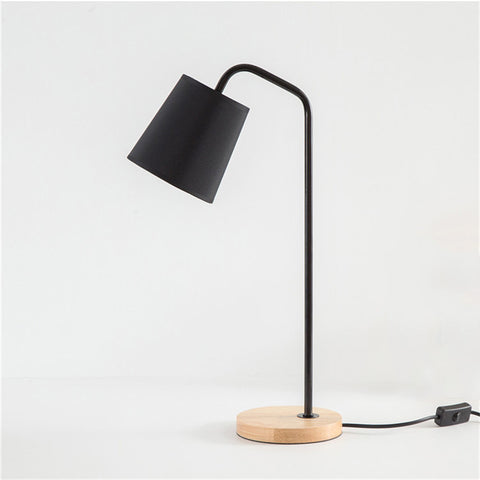 Black night table lamp