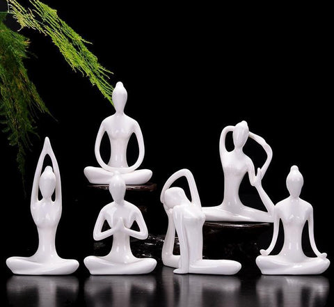 Ceramic Abstract Yoga Figurines