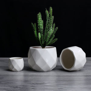 Diamond Pattern Flowerpot