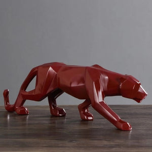 Geometric Panther Sculpture