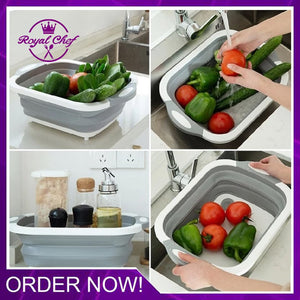 Collapsible Cutting Board Drain Basket