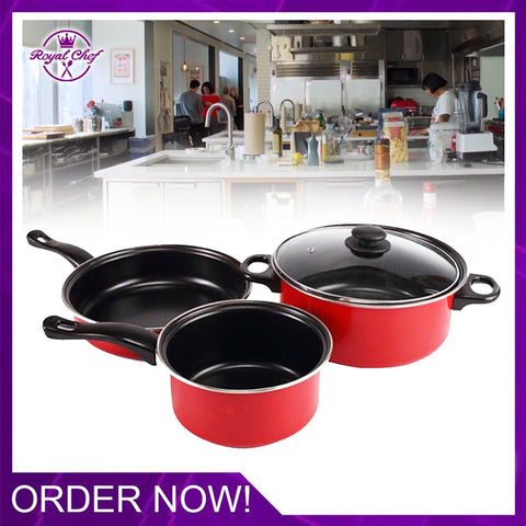 [SUPER SALE] SET OF 3 Cookware Pot Set