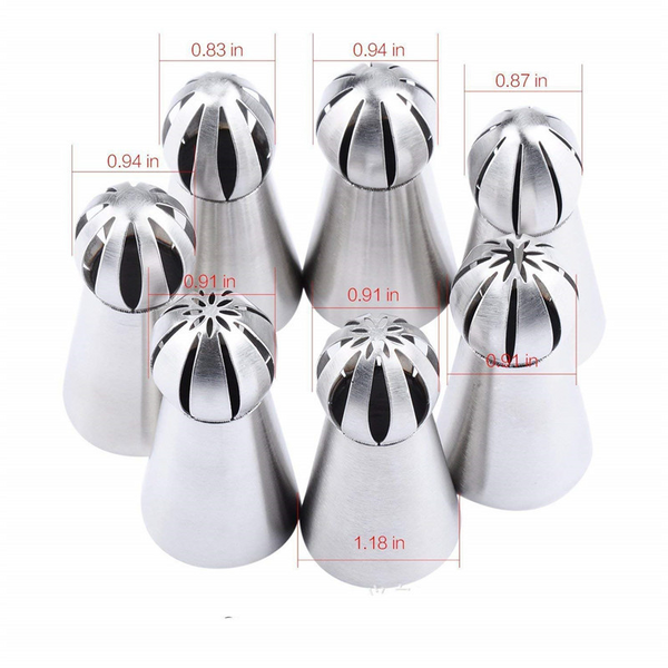 7PCS - Cake Decor Piping Nozzle Set