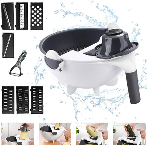 Rotate Vegetable Cutter Slicer With Drain Basket
