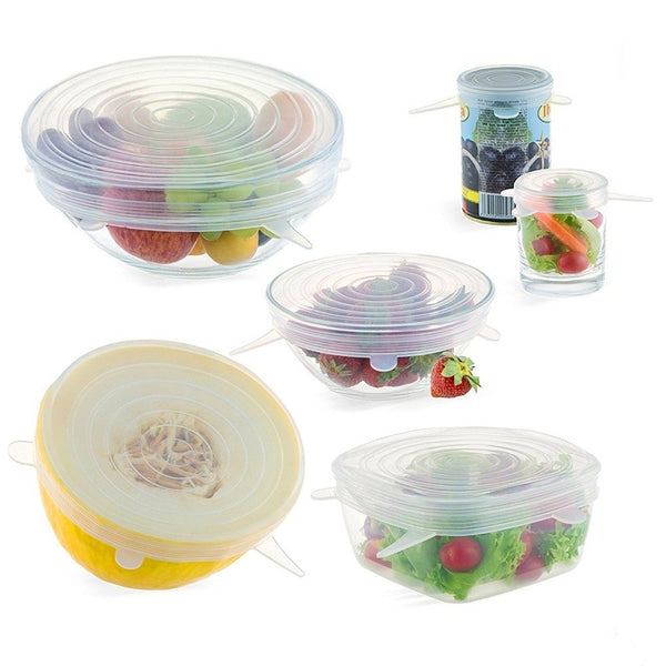 Eco-friendly Storage Containers Covers (6 PIECES)