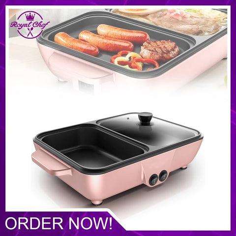 2 in 1 Electric Hot Pot & Electric Griddles