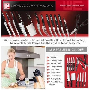 World Class Quality 13 piece Knife Set