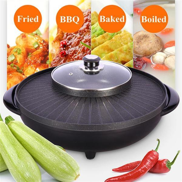 Korean 2 in 1 BBQ Grill & Steamboat Hot Pot