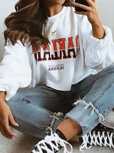 Load image into Gallery viewer, Casual Round Neck Letter Print Loose Sweatershirt