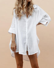 Load image into Gallery viewer, Short And Long Cotton Shirt