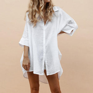 Short And Long Cotton Shirt