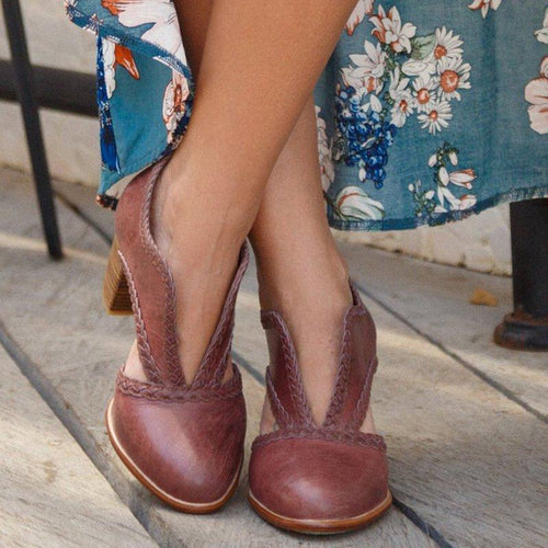 Casual Hollowed Out High Heel Round Toe Women Boots