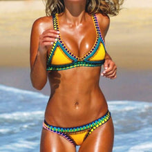 Load image into Gallery viewer, Spaghetti Strap  Contrast Trim  Plain Bikini