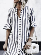 Load image into Gallery viewer, Sexy Fashion Short Sleeves Striped T-Shirts
