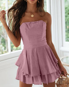 Wrapped Chest Ruffled Dress